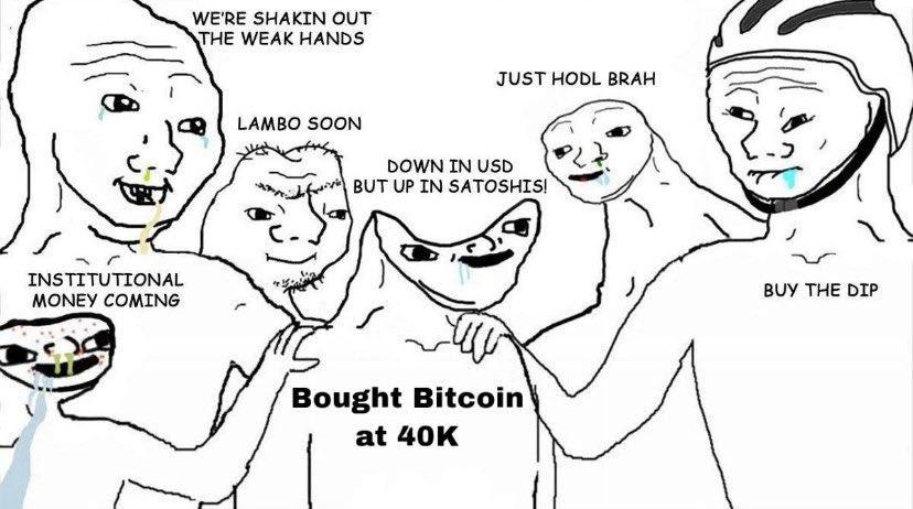 A trader who bought btc at 40,000