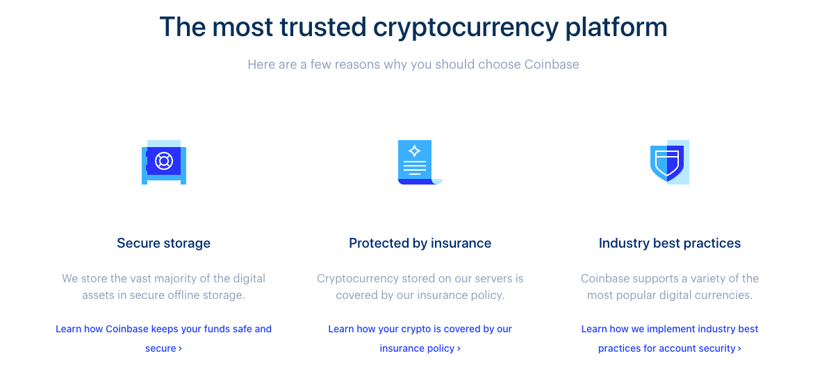 coinbase landing page