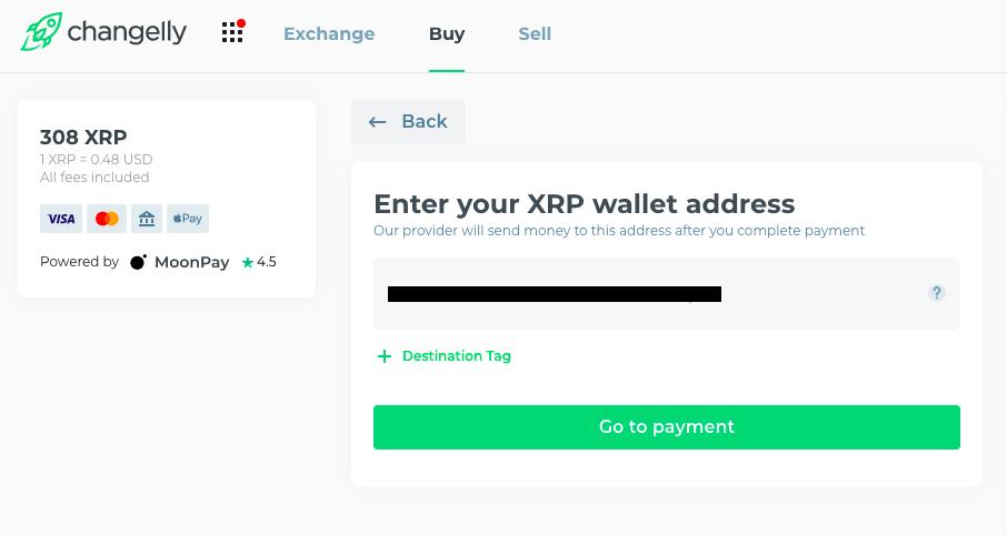 changelly xrp wallet address