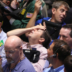 a guy is desperate about the market drop